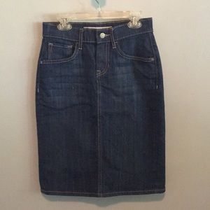 High Waisted Fitted Jean Skirt